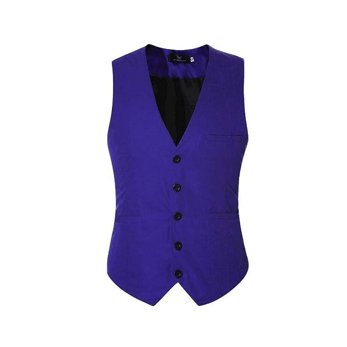 Chalecos de Vestir para Hombre Elegante Chaqueta de Traje ...