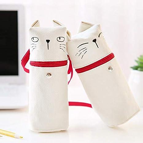 4 unids/lote Kawaii gato pluma y bolsa de lápiz Gatitos de dibujos animados bolsa de almacenamiento grande Organizador papelería Oficina material escolar 6504: Amazon.es: Oficina y papelería