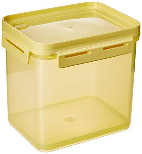 Pote Hermético Flap 2,2litros 19 X 14 X 15,7 Cm Amarelo Elétrico Translícido E Amarelo Soft - Coza Coza Amarelo Soft+eletrico