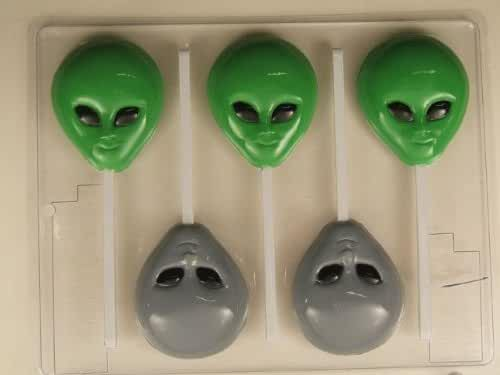 Alien head H076 Halloween Chocolate Candy Mold