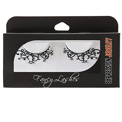Starry Night Pair of False Paper Eyelashes | Perfect Fashion Accessory for Dressing Up, Cosplay, Masquerades and Halloween (Starry Night Witch Costume)