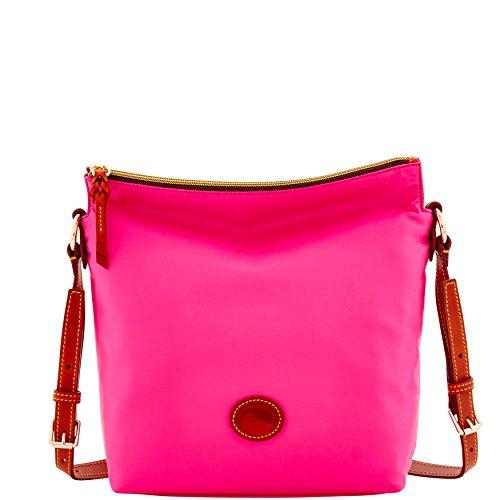 Dooney & Bourke Nylon Small Dixon Shoulder Crossbody Bag Purse Handbag, Fuchsia by Dooney & Bourke