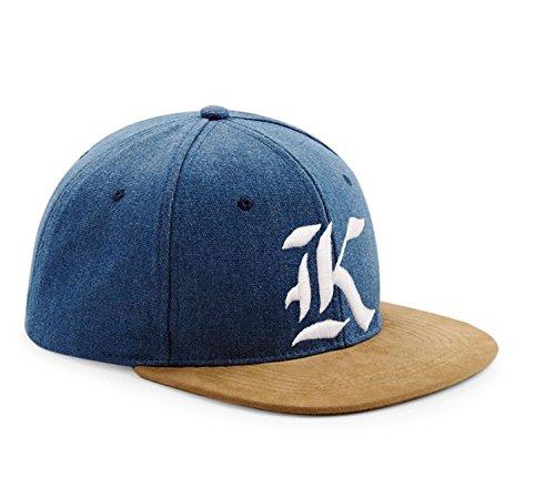 con 3D Gorra estilo Multicolor Snapback K gótico de béisbol J y de ante diseño tela en con logo letra S6Pq7g6