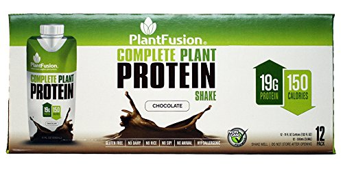 PlantFusion Complete Ready to Drink Protein Shake, No Soy or Rice, 18g Protein, 11oz Carton, 12 Count