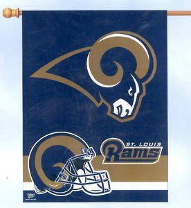 ST LOUIS RAMS 27 X 37 VERTICAL FLAG by WinCraft