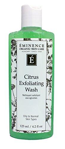 Eminence Organic Skincare Citrus exfoliating wash 4.2oz, 4.2 Ounce