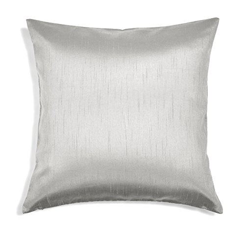 Aiking Home Solid Faux Silk Euro Sham/Pillow Cover, Zipper Closure, 26 by 26 Inches, - Pillow Dupioni Silk Cover