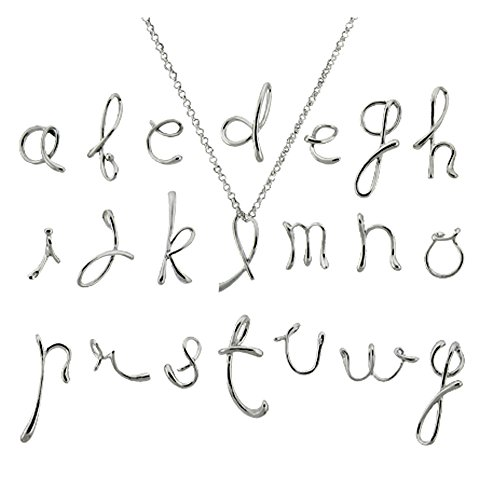 Sterling Silver Initial Neckla