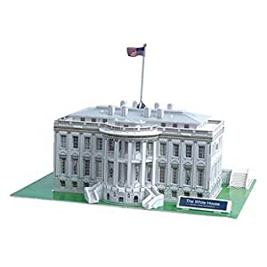 3D Jigsaw Puzzle - White House, U.S.A : Model Parts 65pcs
