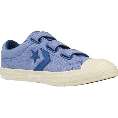Converse Unisex-Kinder Star Player EV 3v Ox Sneaker Blau (Nightfall Blue/Egret)