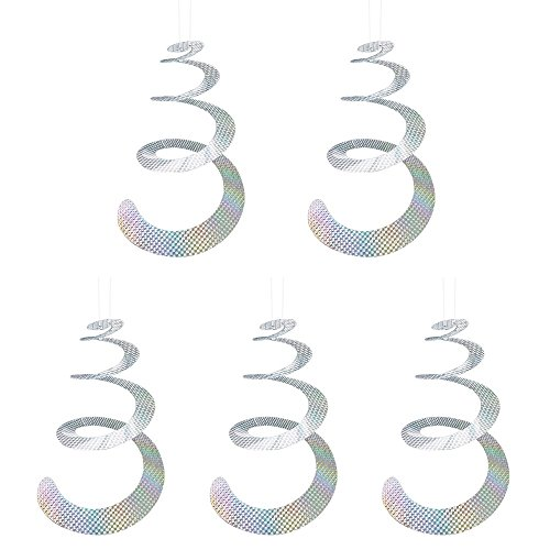 (Bird Repellent Reflective Bird Scare Control Devices - Spiral Bird Deterrent for Woodpecker, Pigeons, Geese, Hawk, Swallow and More - Ultra Thick & Durable (5 Pack))