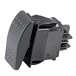 Ancor 554010 Marine Grade Electrical Sealed Rocker Switch (Single Polesingle Throw, Constant On Constant Off)