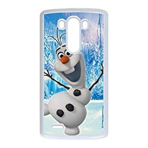 LG G3 Cell Phone Case White Disney Frozen Character Olaf 003 KWL0504213