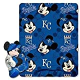 """MLB Officially Licensed Kansas City Royals Mickey Mouse Character and Fleece Hugger Set (40""""x50"""")"""