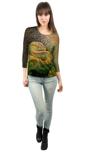 Yizzam- Watchful Rattle Snake -New Ladies Womens 3/4 Sleeve-2X by Yizzam