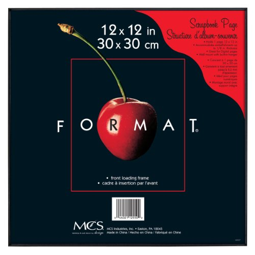 MCS 12x12 Inch Format Frame, Black (40948)