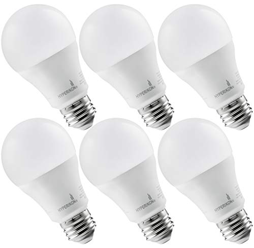 Hyperikon LED A19 Dimmable Bulb 100W Equivalent, Soft White 3000K, LED 14W Bulb (6 Pack)