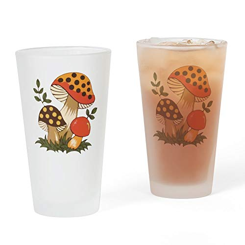 CafePress Merry Mushroom Pint Glass, 16 oz. Drinking Glass