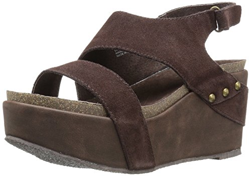 Sandals Brown Volatile (Volatile Women's Avril Wedge Sandal, Brown, 9 B US)