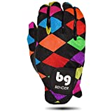 Bender Gloves Women's Spandex Golf Glove for Left Handed Golfers (Worn on Right Hand) (Argyle, Medium)