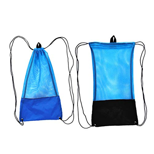 Prettyia 2pcs L Ultralight Mesh Stuff Sack Drawstring Storage Pouch Camping Outdoor by Prettyia