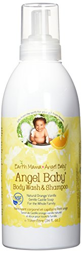 Angel Baby Body Wash & Shampoo, Gentle Castile Soap for Sensitive Skin (Liter Refill Size, 34 Fl. Oz.)