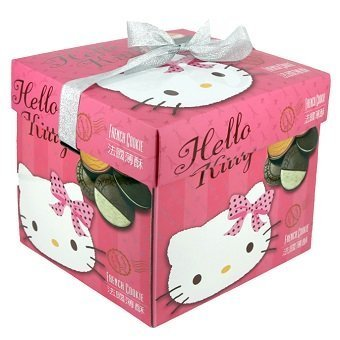 hello kitty french cookie in pink gift box]()