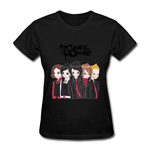 SHUNAN Women's Chemical Romance Anime T-shirt Size L Black
