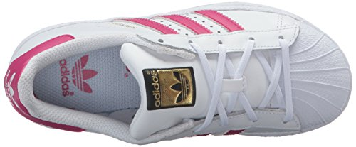 Adidas Kids Superstar Foundation El C Sneaker Bianco / Rosa / Ronzio Bianco