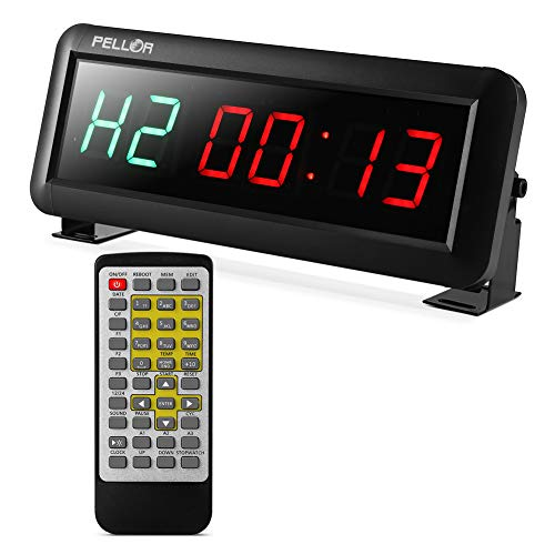 - Pellor High Fitness Training Timer Remote Control Gym Indoor Interval Timer Clock for Crossfit, Tabata, EMOM, MMA (1.5