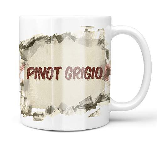 Neonblond 11oz Coffee Mug Pinot Grigio Wine, Vintage style with your Custom Name