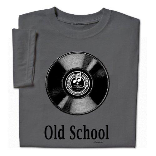 ComputerGear Funny Old School Music T Shirt LP Record Album Vinyl Geek Tee, 4X