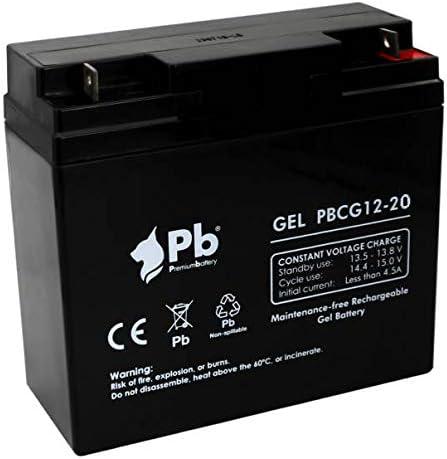 Premiumbattery Batería Gel Ciclo Profundo 12V 20Ah FullCG12-20