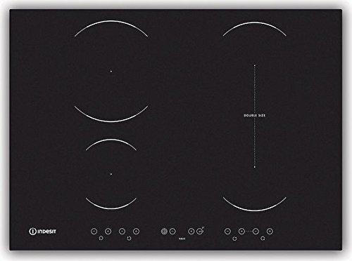Indesit - placas de inducción de 4 fuegos, 70 cm, Negro VID ...
