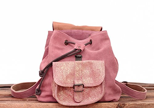 style petit cuir MARIUS en suédé LE vintage de Rose PAUL nubuck sac BAROUDEUR Poudré vachette dos à tyg8qOg1w