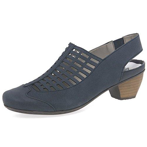 Griglia Rieker Delle Scarpe Delle Donne Di Corte Aperta Blu