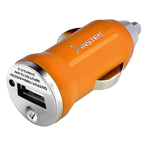 Universal Mini USB Car Charger Adapter(Orange) for Motorola cell phone - Begonia Clutch