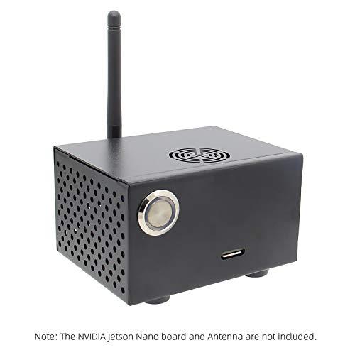 Geekworm NVIDIA Jetson Nano Metal Case/Enclosure with Power & Reset Control Switch for NVIDIA Jetson Nano Developer Kit