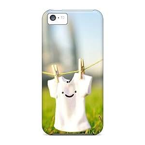 Hot Design Premium VqcySDT6705XiAPI Tpu Case Cover Iphone 5c Protection Case(cute Smile T Shirt)