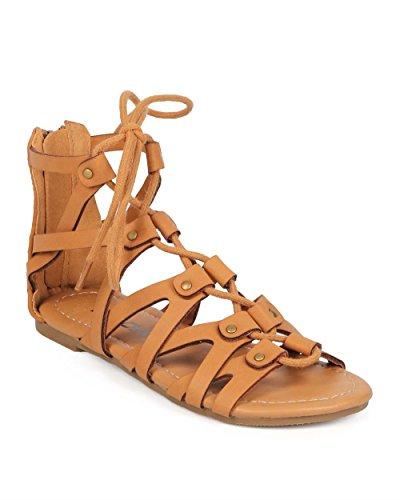 Soda Leatherette Corset Gladiator Sandal