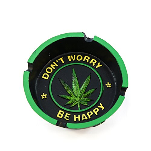 Dont Worry Be Happy Ashtray - Cigar Ashtray (E Cigarette Pot)