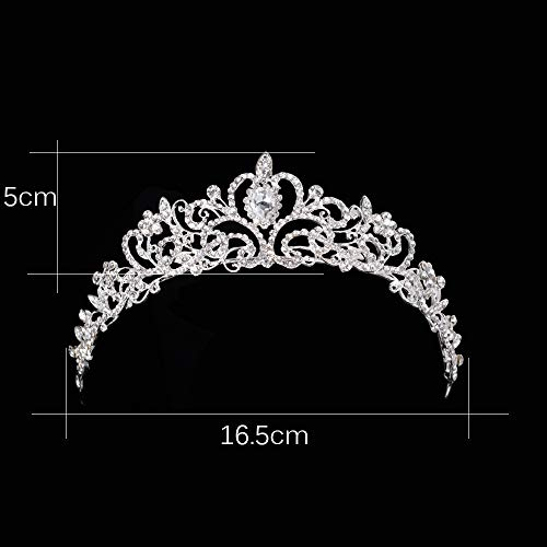 Baroque Bridal Hair Accessories Gold Crown For Girls Diadem Bride Headdress Red White Austria Crystal Wedding Head Jewelry 6