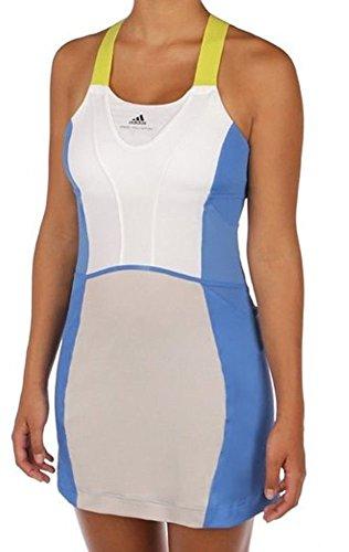 Adidas Womens Stella McCartney Barricade 3 Piece Bra/shorts Tennis Dress Medium Blue