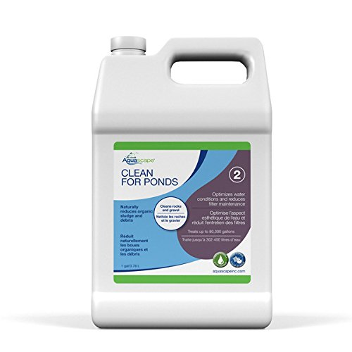Aquascape CLEAN Water Treatment for Koi and Fish Ponds, Optimize Water Clearity and Quality, Easy To Use, Powerful Blend of Heterotrophic Bacteria, 1 gallon / 3.78 L| 96064 ()