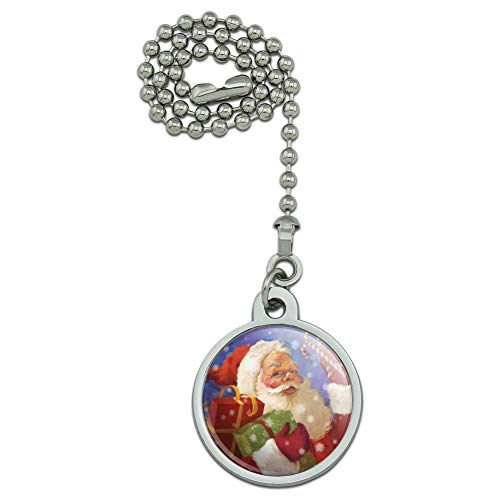GRAPHICS & MORE Christmas Holiday Santa Presents Candy Canes Ceiling Fan and Light Pull Chain