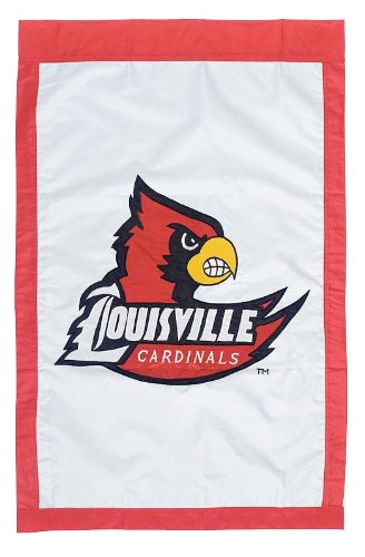 28'x44' Applique Banner Flag - NCAA Louisville Cardinals 28'' x 44'' White Team Logo Applique Flag