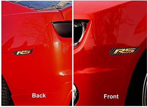 IPG for 2010-2015 Camaro Front & Rear Side Marker RS Carbon Fiber Vinyl kit 4 Units Set (Black Carbon Fiber RS)