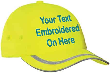 138f1f0c Custom Hat, Embroidered. Your Own Text. Adjustable Back. Curved Bill Many  Colors