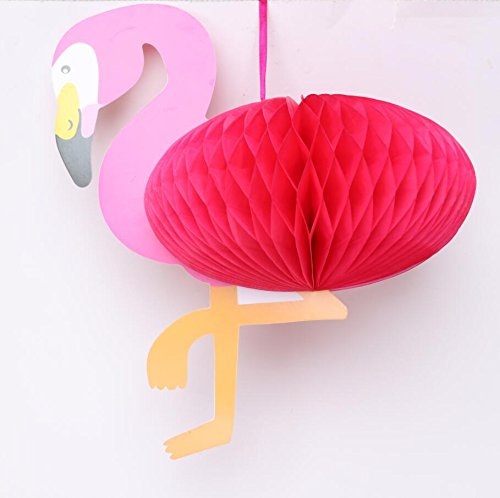 Honeycomb Structure DIY Shaped Party Supplies Pink Flamingo For Halloween and Christmas Decoration 2-pack (Buy Chinese To Store In Where Lanterns)