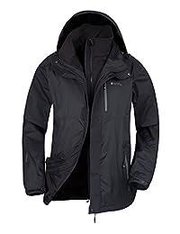 Mountain Warehouse Bracken Extreme 3 in 1 Mens Jacket – Winter Coat